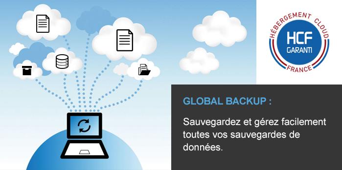 Global Backup est la solution de sauvegarde de vos données